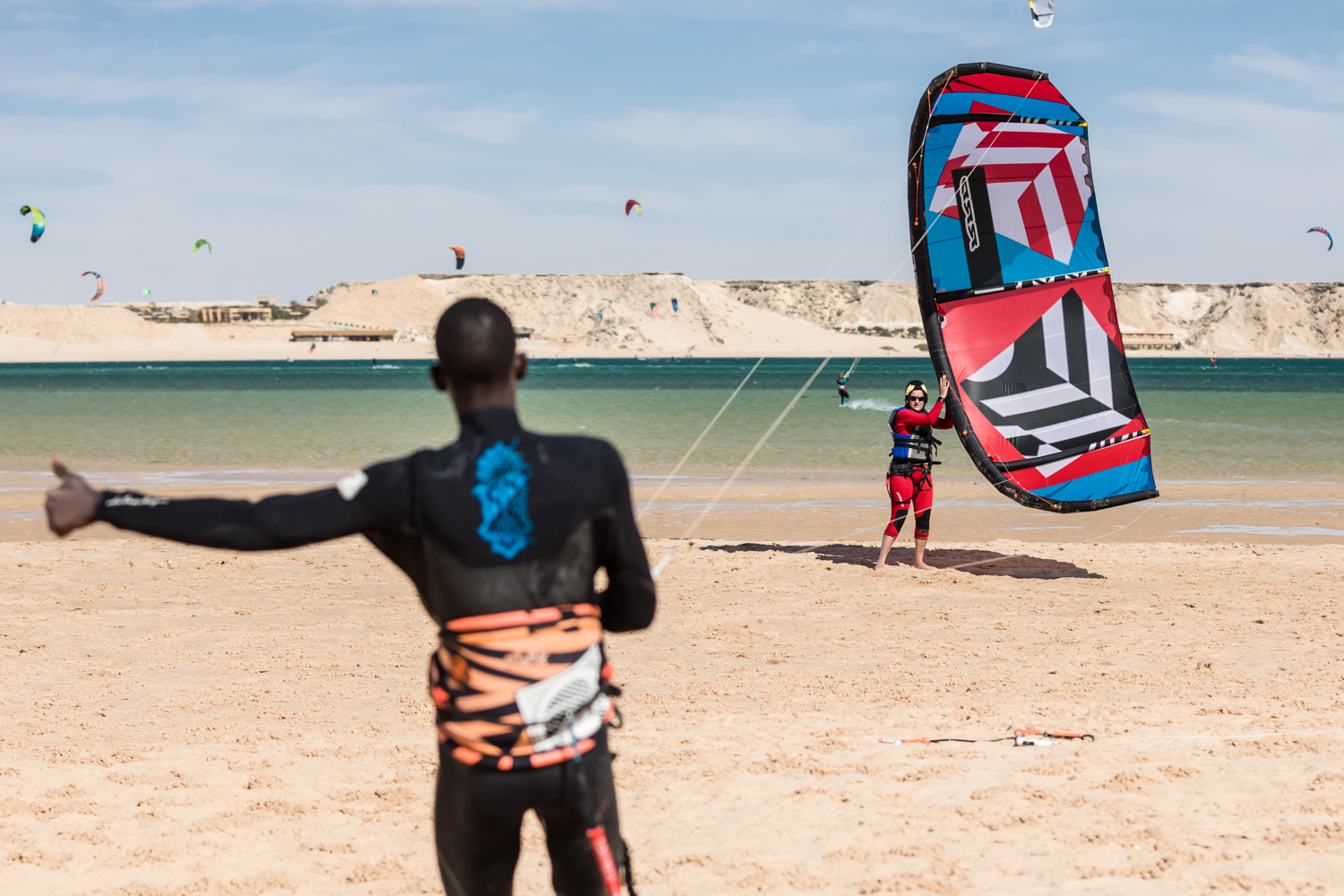 Kitesurfing at Dakhla Spirit